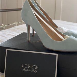 J.Crew 6.5 blue suede heels